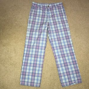 Boys vineyard vines plaid pants